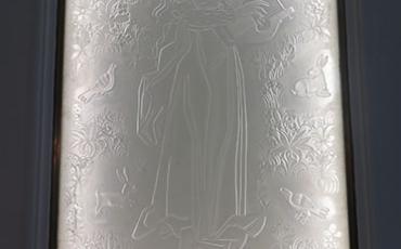 Acto de inauguración del vitral de Auguste Labouret