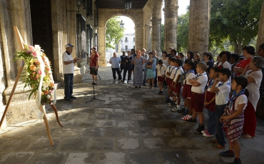 Acto en homenaje a Néstor Aranguren, Coronel del Ejército Libertador de Cuba.