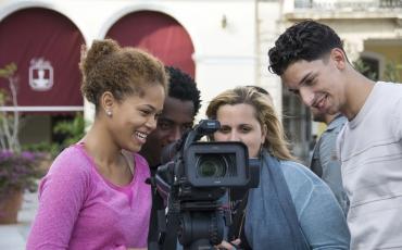 Proceso de filmación del audiovisual Plaza Vieja.