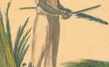 Esclavo negro en el corte de caña