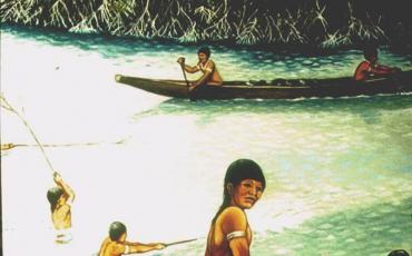 Canoa. Dibujo realizado por José Martínez. Cortesía del autor