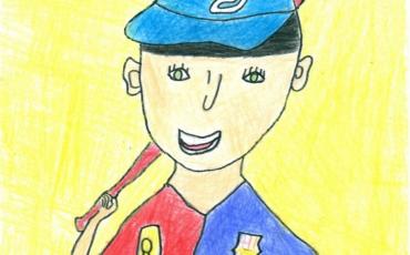 2do lugar de la categoría de 5 a 8 años del concurso infantil Dibujando Europa 2018