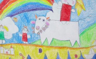1er Premio de la categoría de 5 a 8 años del concurso infantil Dibujando Europa
