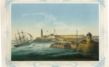Morro y entrada del Puerto de La Habana, 1848.