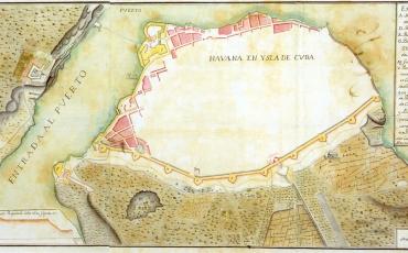 Plano de La Habana amurallada