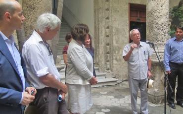 Inauguración de la exposición El Palacio del Segundo Cabo en imágenes. Las palabras inaugurales fueron ofrecidas por Eusebio Leal Spengler, historiador de la Ciudad.