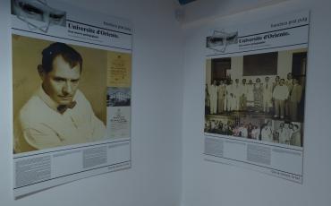 Vista de uno de los paneles de la exposición