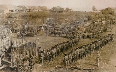 Soldados españoles en campaña.  Columna del General Melguizo.