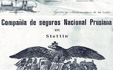29.2 Documentos de archivo de los años 1901-1930, en los cuales aparecen dos compañías de seguros alemanas presentes en La Habana