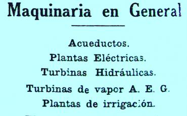 29.4 Anuncio de época de la empresa Allgemeine Elektrizitäts Gesellschaft (A. E. G