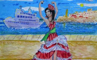 Presencia de la danza española en Cuba. Melissa Alejandra Lina Martínez, 9 años