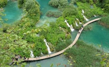 9- Vista aérea de Plitvice