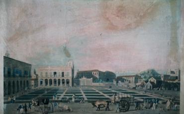 Vista de la Plaza de Armas, 1823-1824