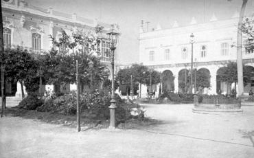 Plaza de Armas, febrero de 1900