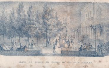 Plaza de Armas. Noche de Retreta, 1841.