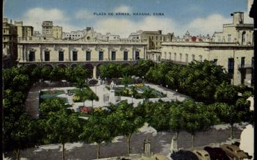 Vista de la Plaza de Armas, Inicios de la década del 50 del siglo XX.