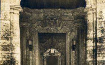 Portada del palacio, hacia la década del 40 del siglo XX. Fototeca de la Oficina del Historiador de la ciudad de La Haba