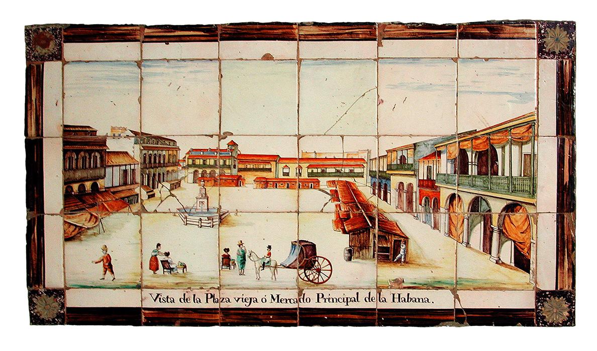 Primer cuarto del XIX. Manufactura valenciana. Dibujo basado posiblemente en los grabados hecho por Hipólito Garnerey en 1808. Colección de la Casa de la Obra Pía.