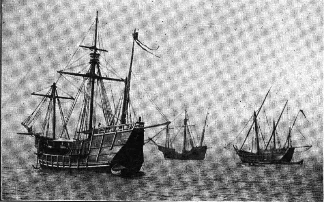 Réplicas de las naves de Cristóbal Colón enviadas a la exposición de Chicago de 1893