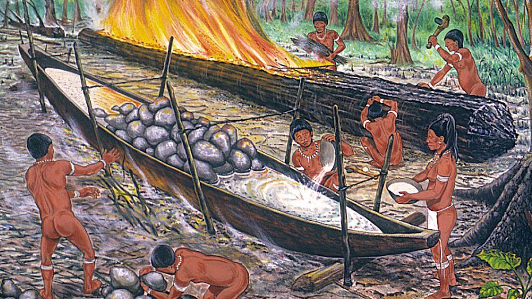 La canoa taína