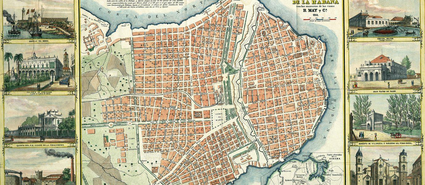 Plano pintoresco de La Habana, 1853.